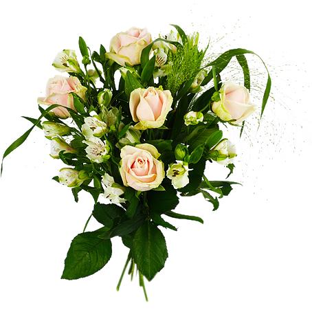 blommor till anhöriga vid dödsfall